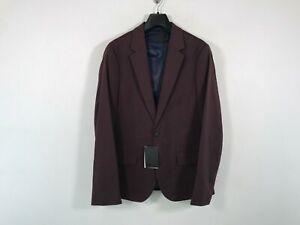 """Men's ASOS Design Skinny Suit Jacket, Size US 34"""" Chest Short- Burgundy"""