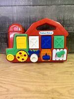 1993 Fisher Price Farmer And The Dell, Red Barn Tractor Pop Up Baby Toy
