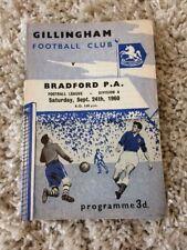24/09/1960 Gillingham v Bradford Park Avenue