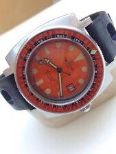 Aquadive 1000 Vintage Diver Ref 706 Automatic Orange Rare Watch Uhr Caribbean