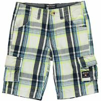 SoulCal Kids Boys Checked Cargo Shorts Junior Pants Trousers Bottoms Cotton Zip