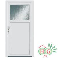 Haustür Kunststoff Tür weiß PVC Nebeneingangstür Dreh links rechts Kellertür NEU