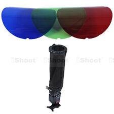 Hot-25° 45° Honeycomb Grid 3 Color Filter Snoot Flash Softbox Diffuser Reflector