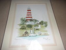Bahamas Hopetown Watercolor 1982 -  Signed By Artist Elyse - Never Used - NEW!