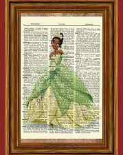 Tiana Dictionary Art Print Vintage Poster Picture Disney Princess and the Frog