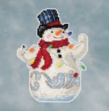 Mill Hill - Jim Shore - Snowman w/ Lights - Beaded Cross Stitch Kit - JS20-1611