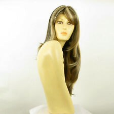 Perruque femme longue méchée blond clair méché cuivré chocolat WENDY 15613H4