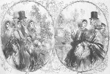 SOCIETY. People in Regent's-Park, antique print, 1849