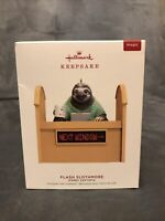 Hallmark 2019 Disney Zootopia Flash Slothmore Magic Keepsake Ornament Sound