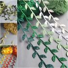VINTAGE Satin Leaf Leaves Vine Garlands Ribbon Sew On Lace Trim Bridal Spring