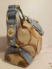 COACH Carly Signature Shoulder Bag 10619 Brown Blue