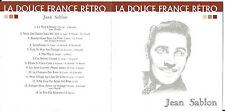 CD 14T LA DOUCE FRANCE RÉTRO JEAN SABLON BEST OF 2002 CLOUD 9 PRODUCTIONS