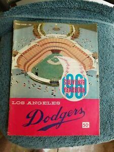 1961 LOS ANGELES DODGERS YEARBOOK  SNIDER, HODGES, KOUFAX, DRYSDALE GROBEE1957