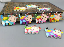 20X Cartoon Wooden Mix Dairy cow shape buttons sewing scrapbooking Crafts 34mm