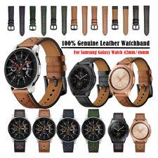 Premium Genuine Leather Watch Band Strap For Samsung Galaxy Watch 46mm 42mm