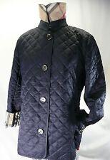 New Burberry Brit XL Quilted Diamond Jacket Coat Black Nova Check Copford