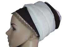 Sinar Tichel Scarves Head Wrap Hair Covering Headcovering Bandana Israeli Brown