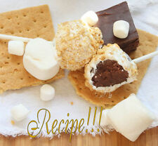 "☆Decadent, Rich Fudge ~ Dipped in......☆S'mores Fudge Pops ""RECIPE""!☆"