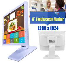 """17"""" LCD Touch Screen Monitor w / POS stand USB Ristorante al dettaglio Pub Bar"""