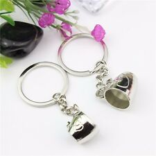 2 Pcs Lover Coffee Cup Key Ring | Couple Male Female Tea Love Mug Key Chain Gift