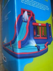 Sunny & Fun Deluxe Inflatable Water Park, Slide & Bouncy House 13.5' x 20' NEW