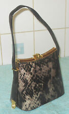 Vintage Retro Brown Snake Skin Python Faux Vegan Leather Handbag Rockerbilly