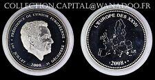 Médaille L'Europe des XXVII Président de U. E. 1 Juillet 31 Décembre 2008