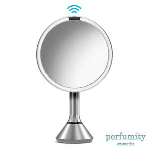 "SimpleHuman 8"" Round Sensor Makeup Mirror 5x Touch-Control Brightness"