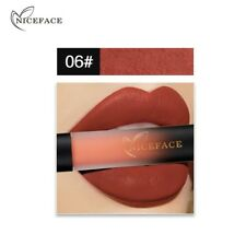 Niceface 18 Colors Liquid Lip Gloss Lipsticks Vogue Lipstick Waterproof Lipstick 6#