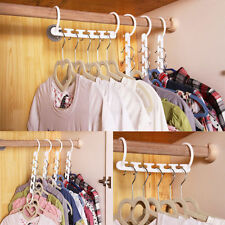 Space Saver Wonder Magic Clothes Hangers Closet Organizer Hooks Racks Useful