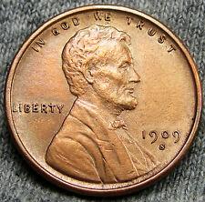 1909-S VDB Lincoln Cent Wheat Penny --- GEM BU+ --- #D615