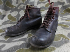 WW2 VTG GERMAN HJ ELITE SOLDIERS LOW ANKLE BOOTS SHOES W/CONTINENTAL SOLES