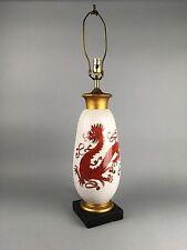 Large Mid Century Italian Modern Pottery Dragon Lamp Fantoni Raymor Era