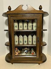 Lenox Spice Garden 24 Spice Jars & Wood Cabinet w Glass Front (other items Nfs)