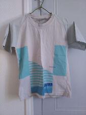T-shirt garçon imprimés blancs et bleus, 10 ans