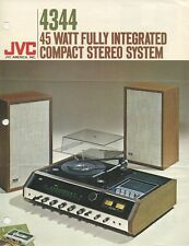 JVC 4344 Original Integrated Compact Music System Tech Sheet Brochure