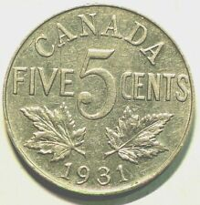 1931 Canada 5 Cents King George V #10026