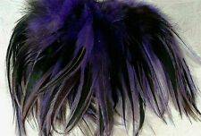 Strung Dark Purple dyed over Rooster Badger Feathers Under 4