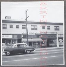 Vintage Car Photo 1953 Plymouth Arden Ice Cream Signs on Store 766127