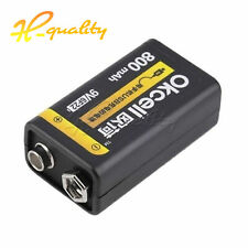 1PCS 9V 800mAh Rechargeable Li-ion Battery USB Charge For Multimeter Microphone