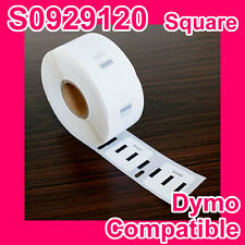 2X Compatible Dymo Label S0929120/D30332 25x25mm (PERMANENT ADHESIVE)