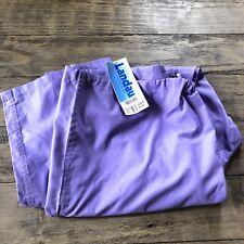 NWT Landau Womens XL Wide Leg Scrub Pants Scrubs Drawstring Pockets Purple Work