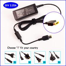 AC Adapter Power Supply&Cord For Lenovo Thinkpad 11e-Chromebook 20V 2.25A 45W