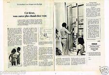 Publicité advertising 1976 (2 pages) Vitrines Vitrage Isobaie De Saint Gobain
