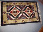 vintage Handmade Tribal Design soft carpet rug 29 x 48 wall hanging geometric