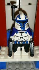 Lego Star Wars Captain Rex with DC-17 Blaster pistols Custom Figure