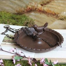 Hanging Birdbath Feeder Cast Iron Patio Garden Yard #6Hm