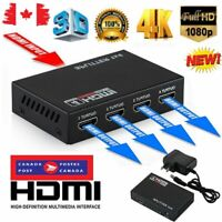 Full HD HDMI Splitter Amplifier Repeater 3D 1080p 4K 1 IN 4 OUT 1X4 Hub For DVD