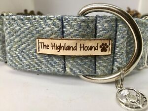 "2"" Atlantic Harris Tweed Martingale Dog Collar Greyhound, Whippet, Lurcher"