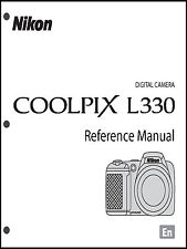 Nikon CoolPix L330 Digital Camera User Guide Instruction  Manual